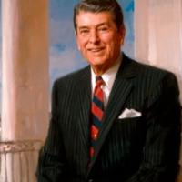 Ronald Wilson Reagan the President in the 100 congress